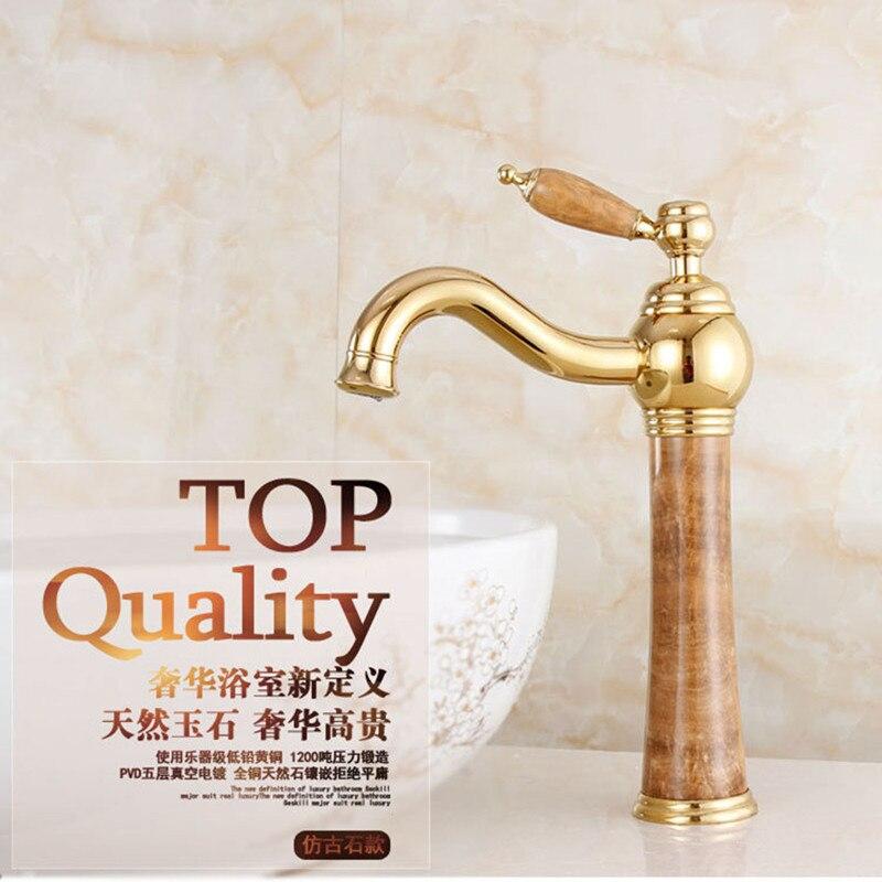 حنفية حمام ذهبية عالية الجودة بمقبض واحد ، لحوض الحمام ، من Senducst ، شحن مجاني