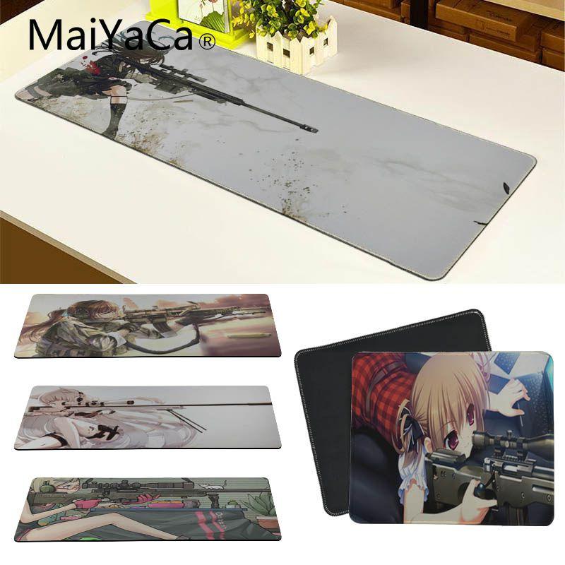 MaiYaCa najwyższej jakości kot dziewczyna snajper podkładki pod mysz komputerową Laptop Anime podkładka pod mysz moda komputer podkładka pod mysz podkładka pod mysz maty