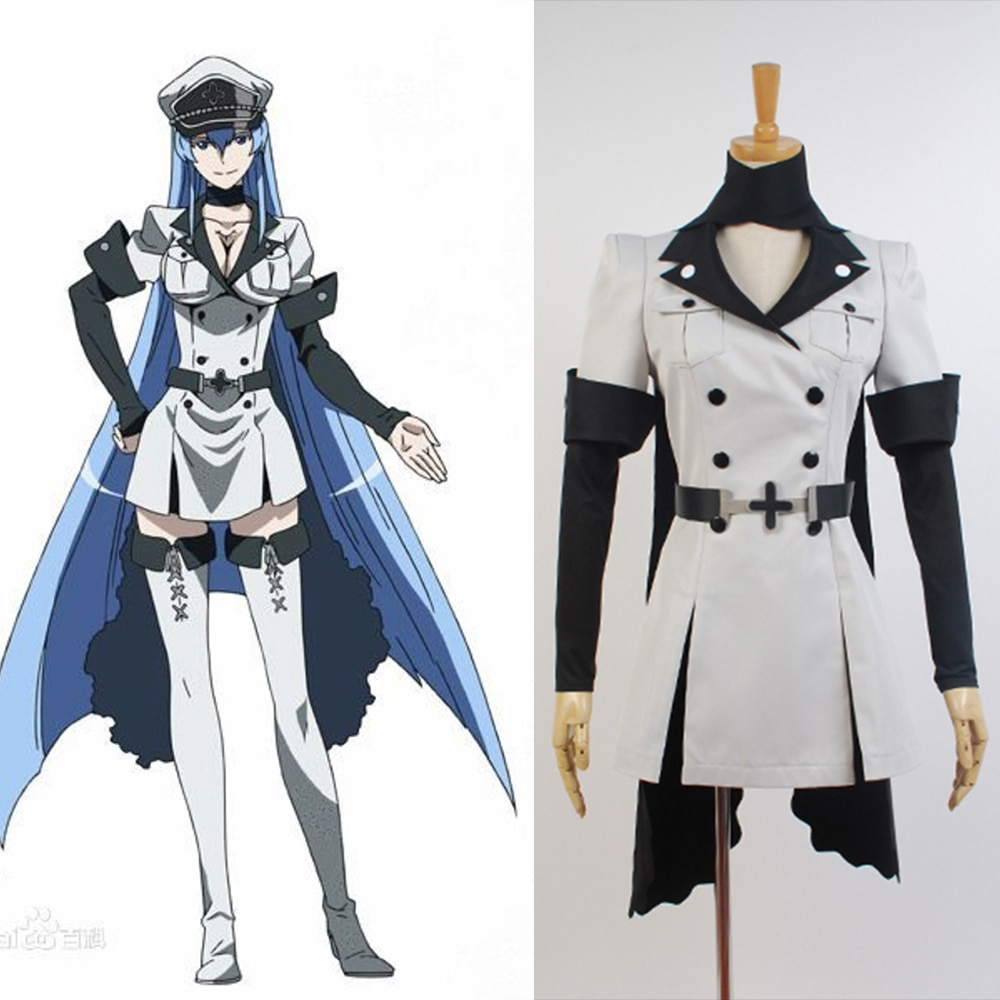 Cosplay Akame ga KILL Esdeath Empire General Apparel Full Set Uniform Outfit Cosplay Costume Halloween Costume hot naruto sai cosplay costume halloween costume full set