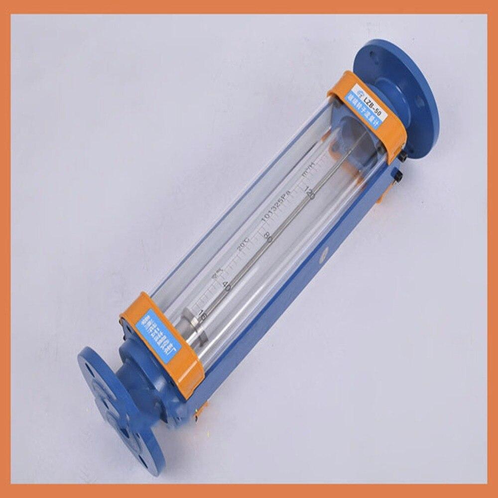 DN50 LZB-50 стеклянный ротаметр расходомер для жидкости. Фланцевое соединение, LZB50 инструменты расходомеры для анализа расходомер
