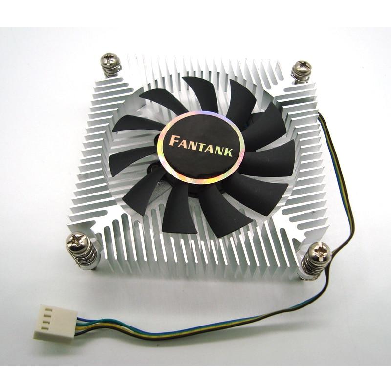 1150 1151 1155 1156 CPU enfriador 1U 4pin PWM CPU ventilador con disipador de calor de aluminio 1500-3500RPM ventilador de refrigeración para la computadora