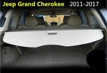Protection de sécurité pour coffre arrière   Protection de cargaison pour Jeep Grand Cherokee 2011.2012.2013.2014.2015.2016, accessoires automobiles de haute qualité