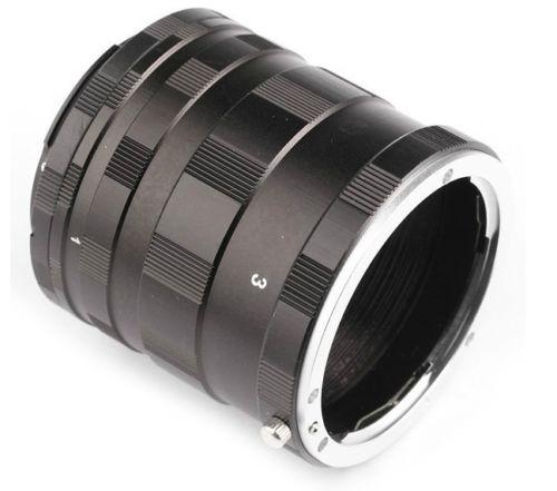 JINTU Métal MF Dextension Macro Tube Adaptateur Bague pour SONY NEX E Nex-7 Nex-5 A5100 A6000 A6300 A6500 A7 A7R A7RII A7M A7s