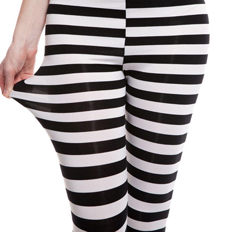 NORMOV Fitness Women Leggings Sexy Stripe Patchwork Leggins High Waist Elasticity Push Up Legging Skinny Leggings Feminina