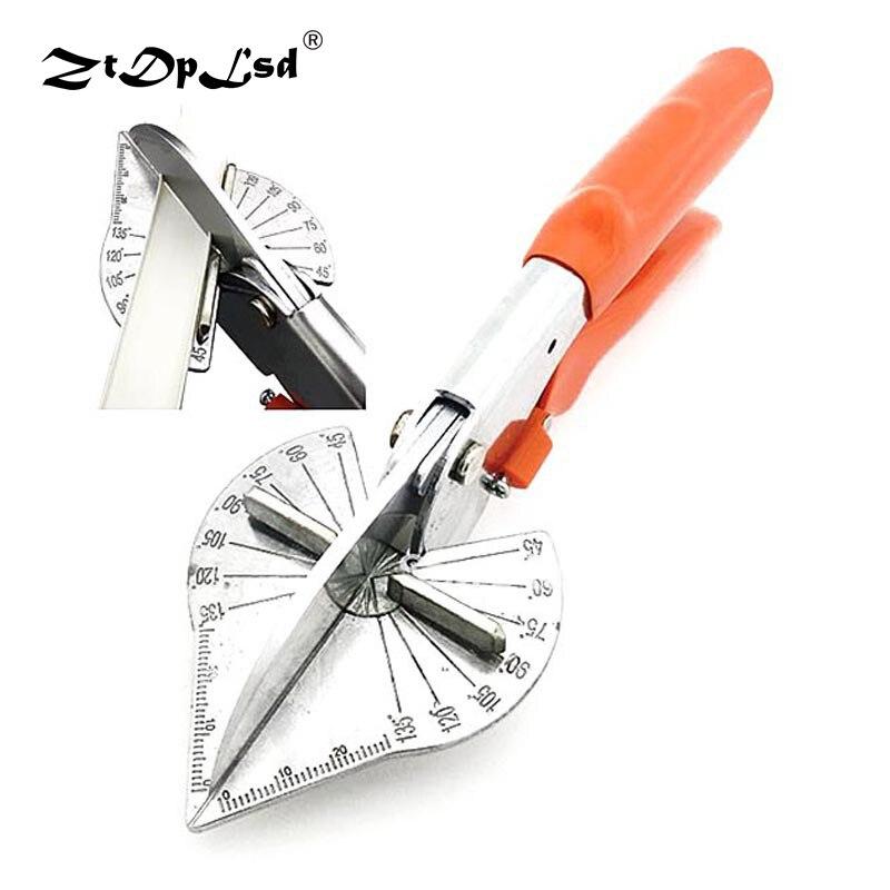 Ztdplsd 45deg multi ângulo mitra elétrica automático trunking scissor fio cortador de duto pvc pe ppr tubo plástico corte guarnição cortador