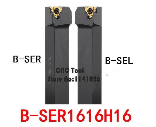 1PCS B-SER1616H16/ B-SEL1616H16 External Threading Turning Tool,CNC Threaded Tool Holder,Lathe Cutting Tool Holder for 16ER/16IR