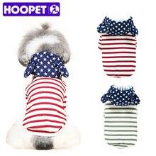 Одежда для собак HOOPET, свитер с двумя ножками, футболка с рисунком кошки на весну и осень