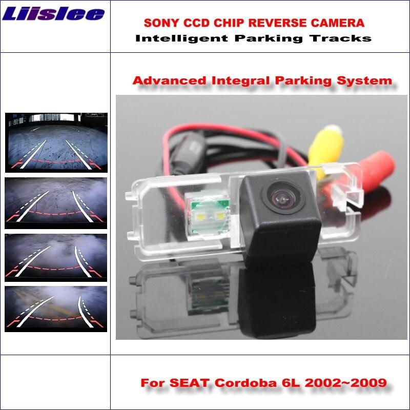 Liislee, cámara trasera intelligentizada con Chip 3089 de alta calidad para SEAT Cordoba 6L 2002 ~ 2009 / NTSC PAL RCA AUX HD SONY CCD