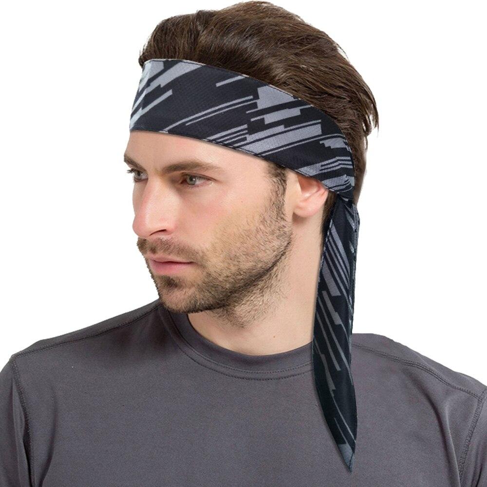 Эластичная Мужская спортивная повязка на голову с принтом на заказ
