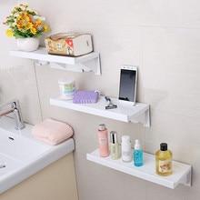 Toilet suction wall storage Suction cup bathroom shelf free punching Washing table plastic simple shelf