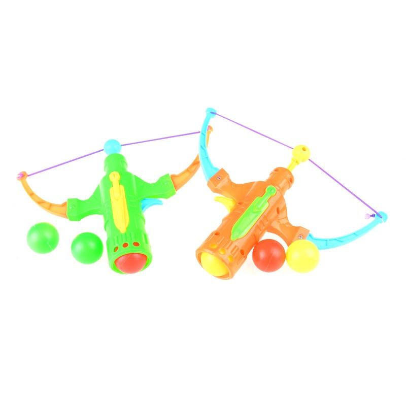Esportes ao ar livre estilingue caça menino brinquedo seta tênis de mesa arma arco de plástico bola voar disco tiro brinquedo crianças presente