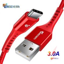 TIEGEM USB tipo C Cable para Samsung S9 S8 rápido de carga tipo-C teléfono móvil de carga Cable USB C para Xiaomi mi9 Redmi note 7