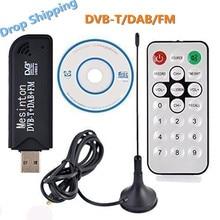 Útil Usb2.0 DAB FM DVB-T RTL-SDR Dongle vara FC0012 DVB-T SDR receptor y sintonizador de televisión Digital IR remoto com antena... Dropshipping. Exclusivo.