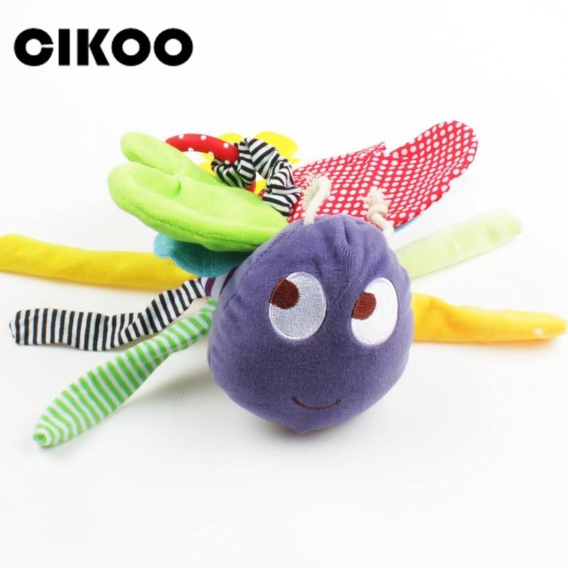 CIKOO motyl zabawki dla dzieci w wieku 0-12 miesięcy pluszowe Mamas Papas lalki dla dzieci grzechotka dzieci mobilne wiszące łóżko dzwon samochodu stoller Brinquedos