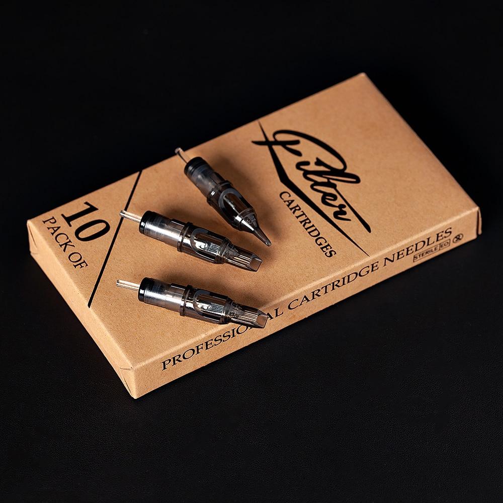 EZ Filter Tattoo Cartridge Needles Safety Membrane Round Liner Rotary Machine Supply 10 Pieces