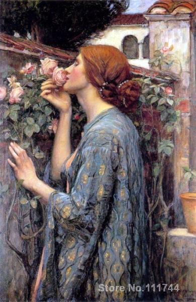Pintura al óleo Retrato de mi dulce Rosa John Wilm Waterhouse obra de arte pintada a mano de alta calidad