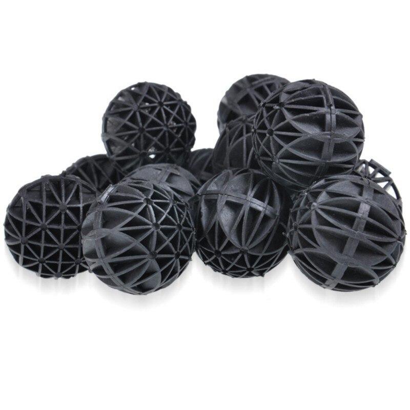 Biobolas para acuarios, filtros de pecera negros, accesorios de 16MM/26MM, 100 Uds.