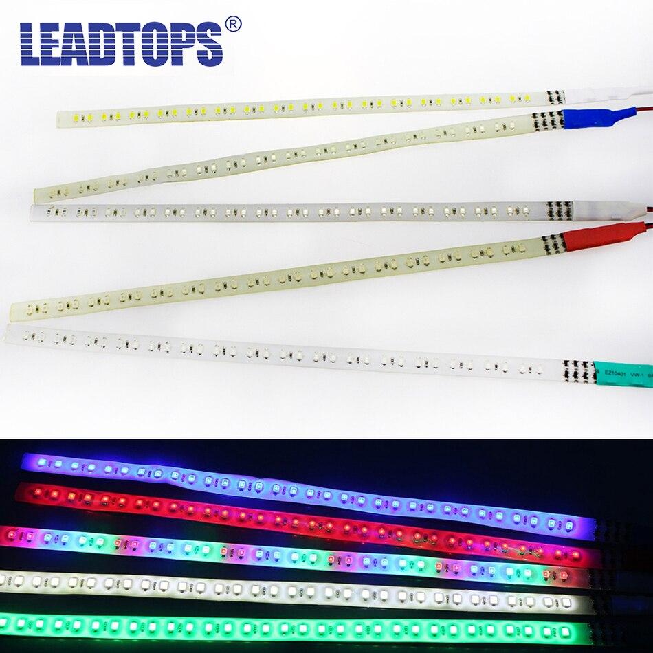 LEADTOPS 2 uds coche estroboscópico 30/60CM 1210 LED coche Caballero strobe tira de luz suave Flash Lámpara decorativa tira BJ