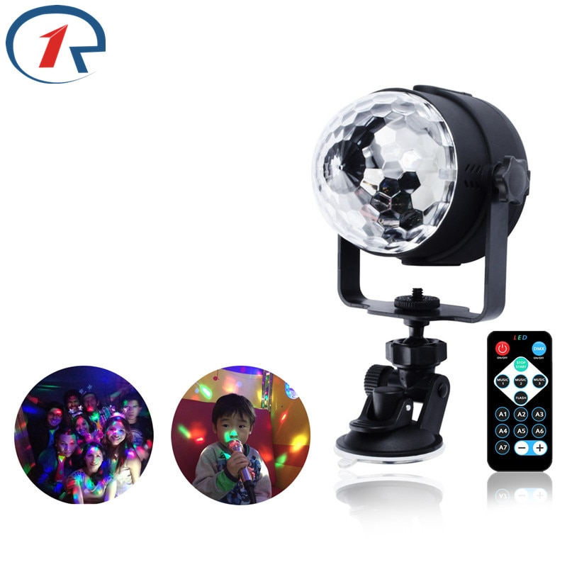 3w usb 5v mini disco ball lamp dj ktv stage light wireless ir remote voice activated lamp home party dance floor rgb light show ZjRight IR Remote RGB LED Crystal Magic Ball lighting Rotate Stage Lamp DC USB 5V DJ light disco lights Party Effect wall Lights