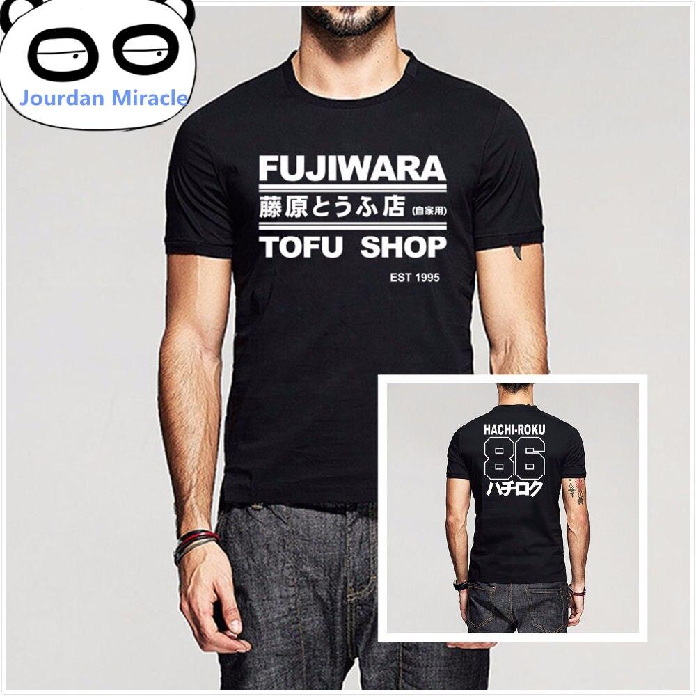 D inicial Manga HachiRoku turno deriva de los hombres T camisa Takumi Fujiwara tienda de Tofu de AE86 camiseta para hombre de la marca ropa camiseta