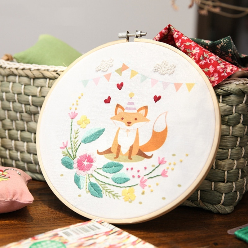 AliExpress - DIY Embroidery For Beginner Needlework Practice Kits Creative Modern Animal Wall Painting Craft Art Sets Valentine's Day Gift