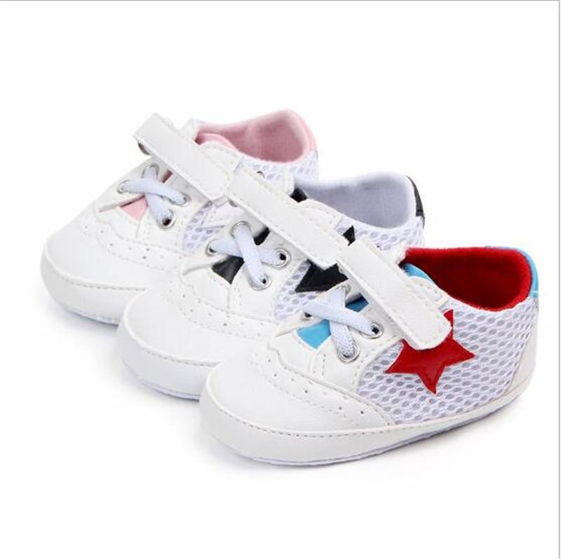 Moda Bebé Zapatos de deporte antideslizante de los bebés de malla zapatos de zapatillas de deporte
