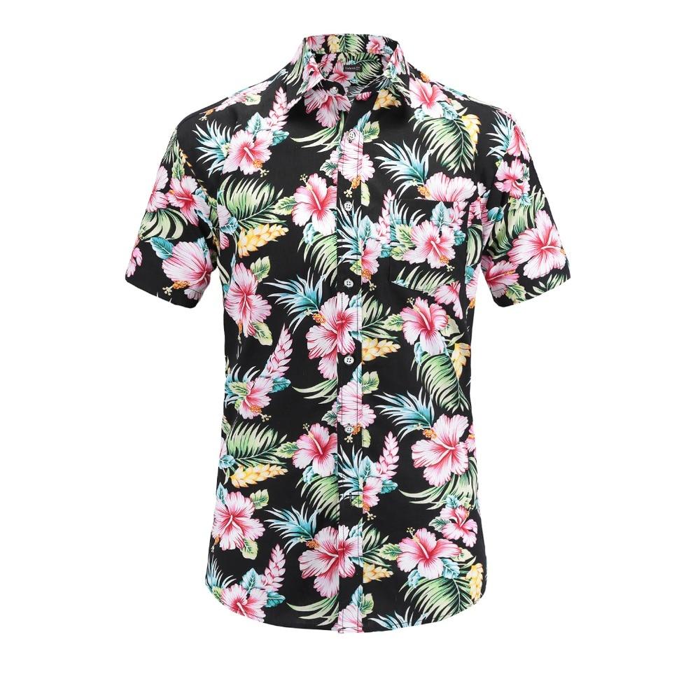 Dioufond, camiseta de manga corta con estampado de piña para hombre, camiseta informal de algodón Floral para hombre, tops de verano para la playa, ropa de hombre hawaiana ajustada 3XL