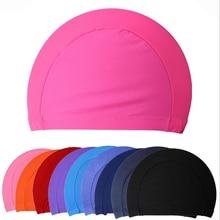 Free Size Fabric Protect Ears Long Hair Sports Siwm Pool Swimming Cap Hat Adults Men Women Sporty Ul