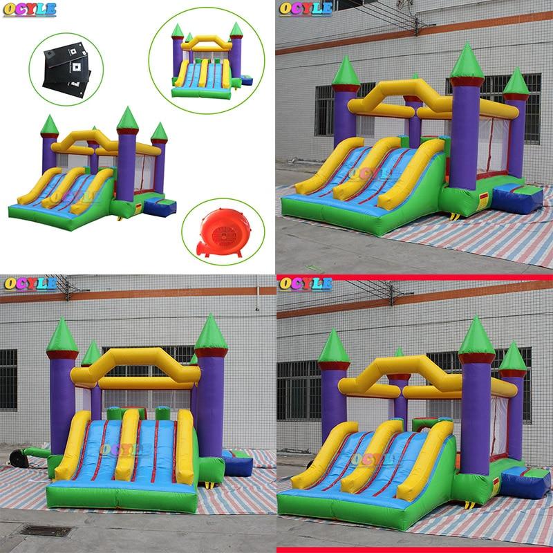¡Envío gratis! Castillo inflable, casa inflable de salto de aire, moonwalk castillo inflable, casa hinchable de alquiler de fiesta