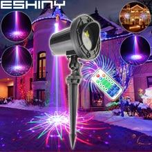 ESHINY Outdoor WF RGB Laser 36 Patterns Projector Holiday House Family Party Xmas Tree DJ Bar Wall Landscape Garden Light N6T85