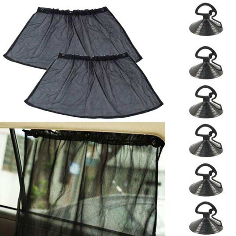 SEKINEW Helpful 2pcs Car Windshield Sunshade Shield Visor UV Protection Block Curtains Car Curtains