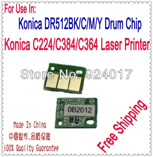 Para Konica C224 C284 C364 224, 284 de 364 224E 284E 364E copiadora tambor Chip Konica DR-512K DR-512CMY A2XN0RD A2XN0TD tambor Chip 20P