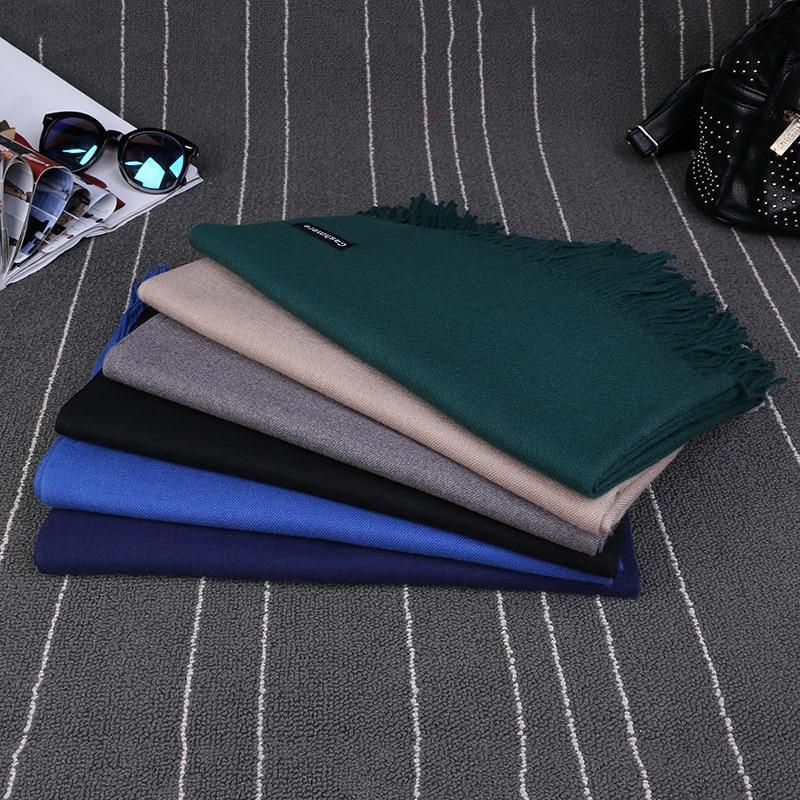 Luxury Brand Scarf Unisex 2017 Female Male Best Quality Wool Cashmere Scarf Pashmina Tassels Women Men Wrap