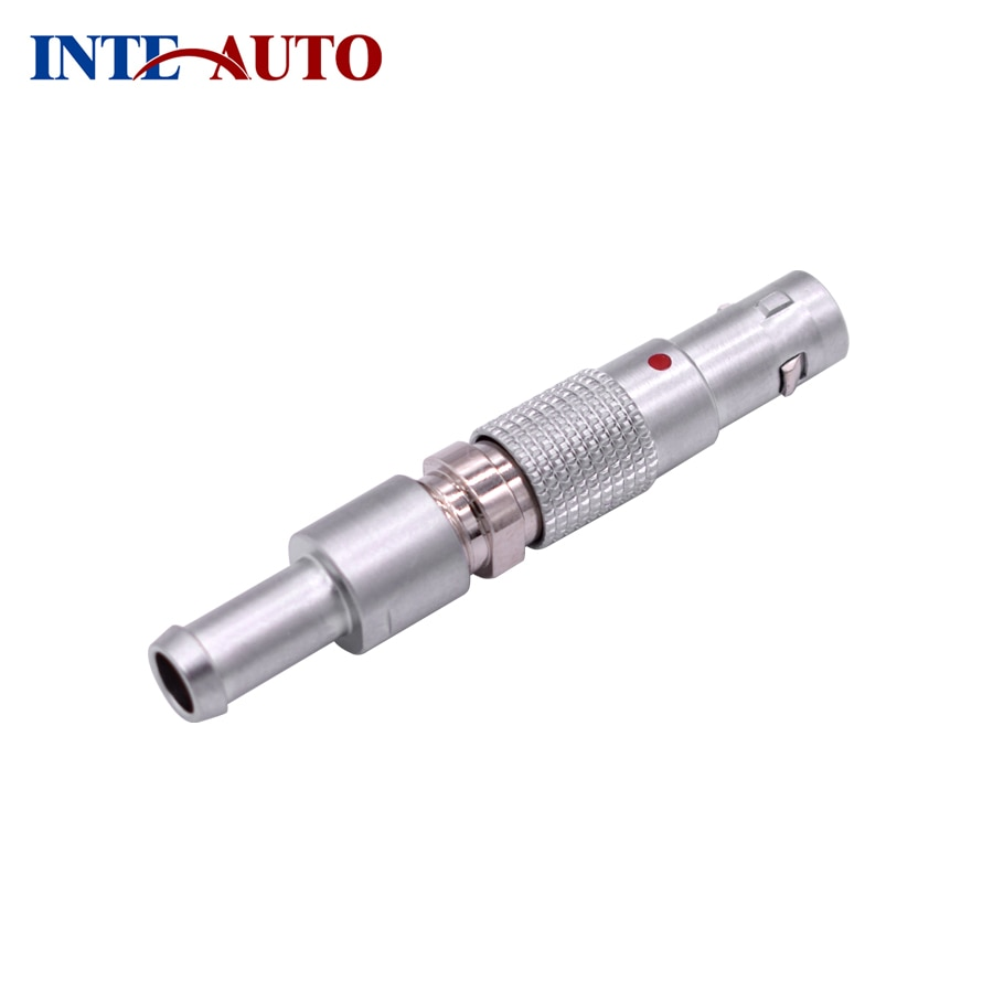 Proveedor de conector redondo de China, enchufe de montaje de Cable FTGG Circular M7 00B, 4 contactos, Pin de soldadura, push-Pull, cuerpo de latón, TGG.00.304
