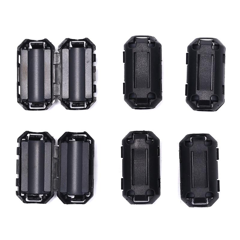 6 pçs preto clipe na braçadeira rfi emi filtros de ruído núcleo ferrite para 7mm cabo n3
