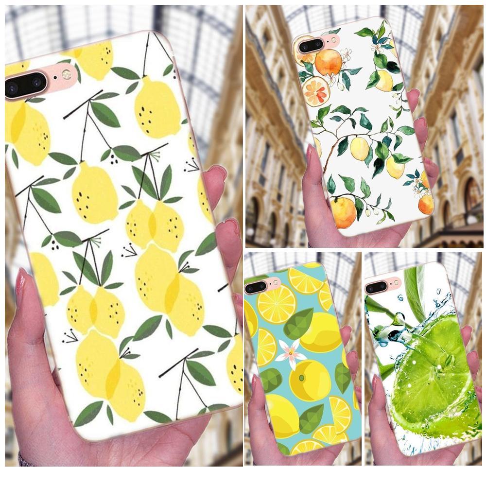 Suave TPU llamada caja de fruta de limón fresco lindo colorido para el Samsung Galaxy Note 5 8 9 S3 S4 S5 S6 s7 S8 S9 S10 mini Plus Lite