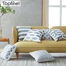 Topfinel-housse de coussin géométrique   Couvre-oreiller gris bon marché pour chaise bouffante, canapé siège, étuis de coussin décoratifs en microfibre