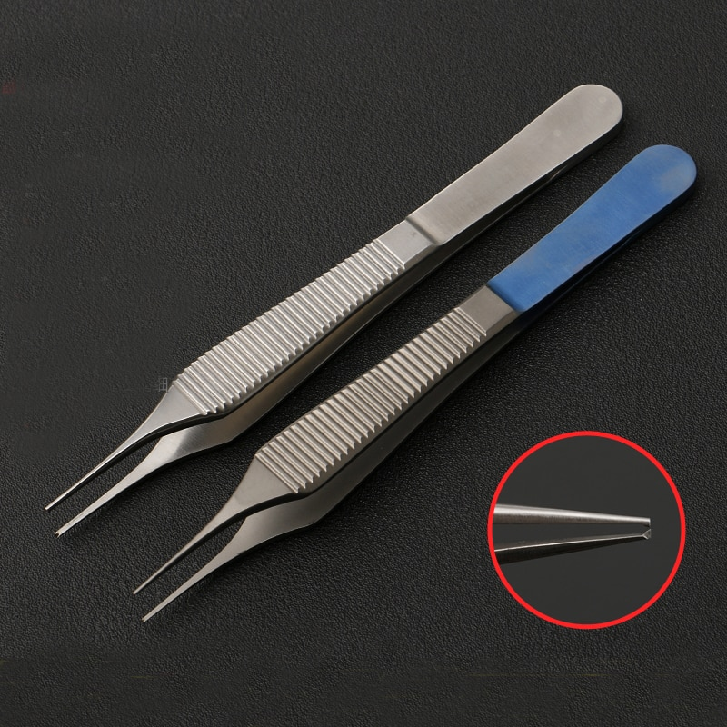 Edison scorpion beauty plastic equipment stainless steel double eyelid tool tissue tweezers fine big belly scorpion has no hook