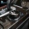 מהירות טיסה רכב פנים ABS IDrive מולטימדיה כפתור ידית כיסוי שחור עבור BMW X1 X4 F15 X5 F16 X6 1 2 3 5 סדרת F10 F20 F30 F34