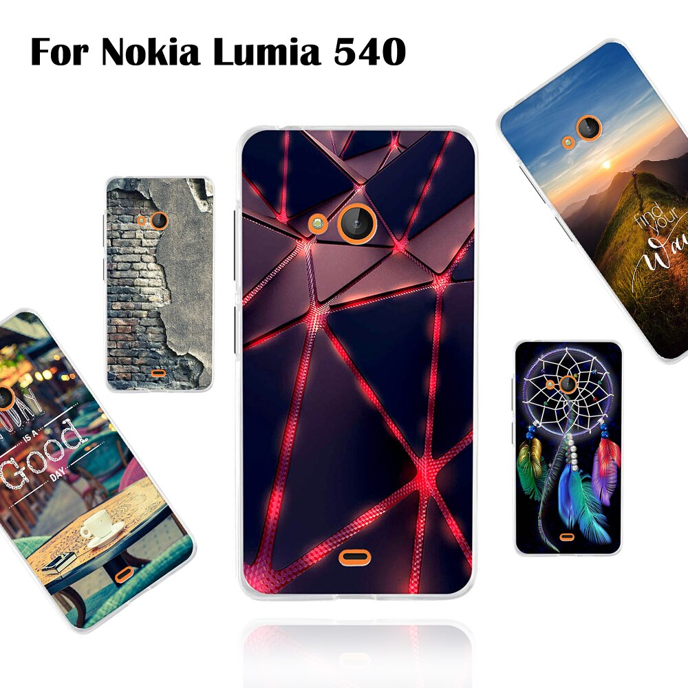 Funda para Nokia Microsoft Lumia 540 carcasa trasera de silicona para Nokia Microsoft Lumia 540 tpu suave pintado patrón Shell fundas de lujo
