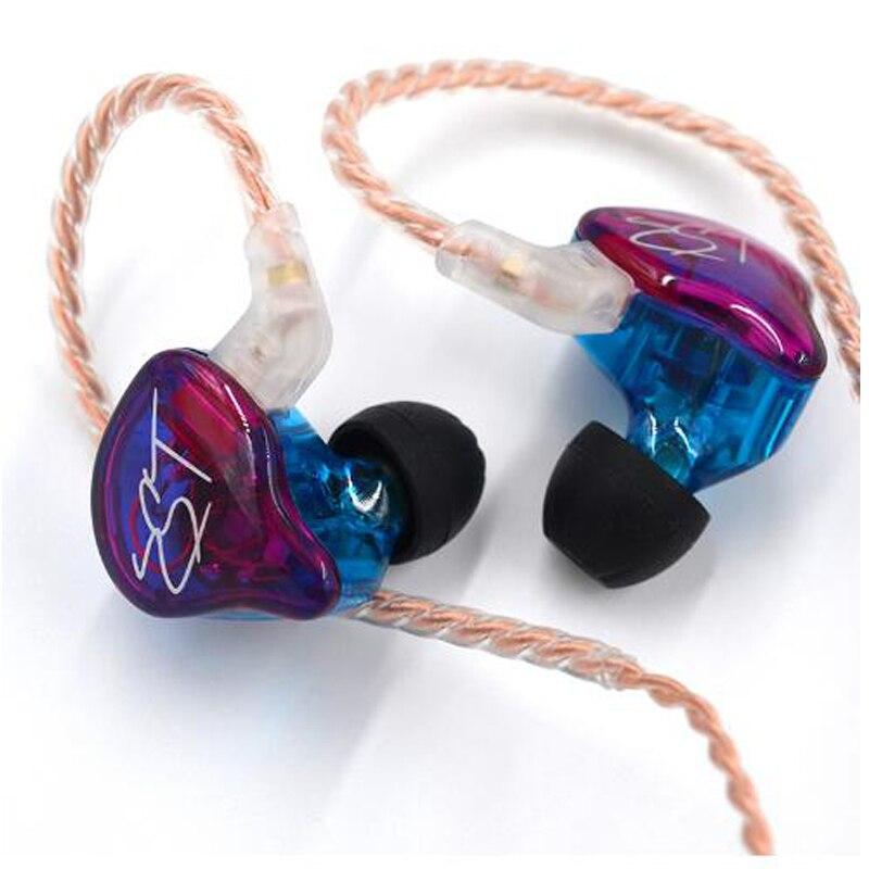 KZ ZST Anker Dual Fahrer Kopfhörer Abnehmbare Kabel Noise Cancelling Sport Headset Mit Mic für ZSN PRO