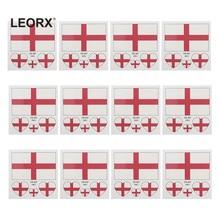 12 Pcs Paese Bandiera Autoadesivi Del Tatuaggio Del Corpo Sportivo di Modo Viso di Arte Del Tatuaggio Decalcomanie per il Calcio Festival (Inghilterra)