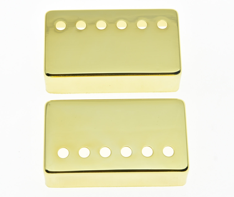 KAISH 2x Gold LP pastilla de guitarra humbucker Cover 50and 52 fundas espaciadoras para Les Paul