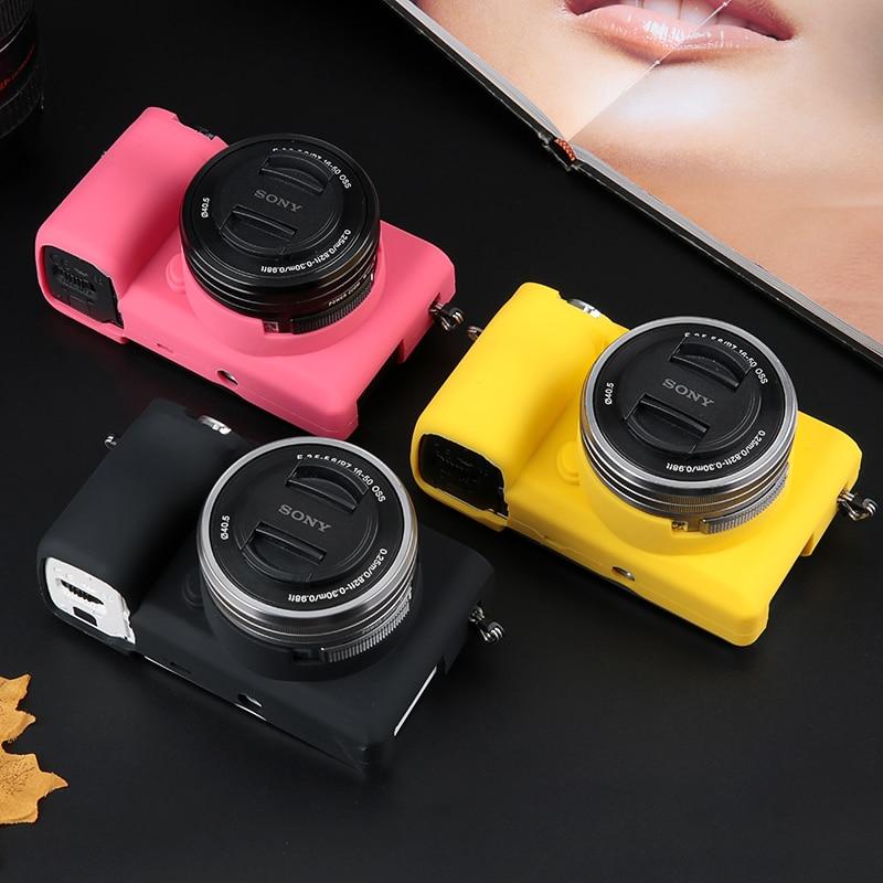Funda protectora de silicona suave para cámara Sony Alpha, funda protectora de...