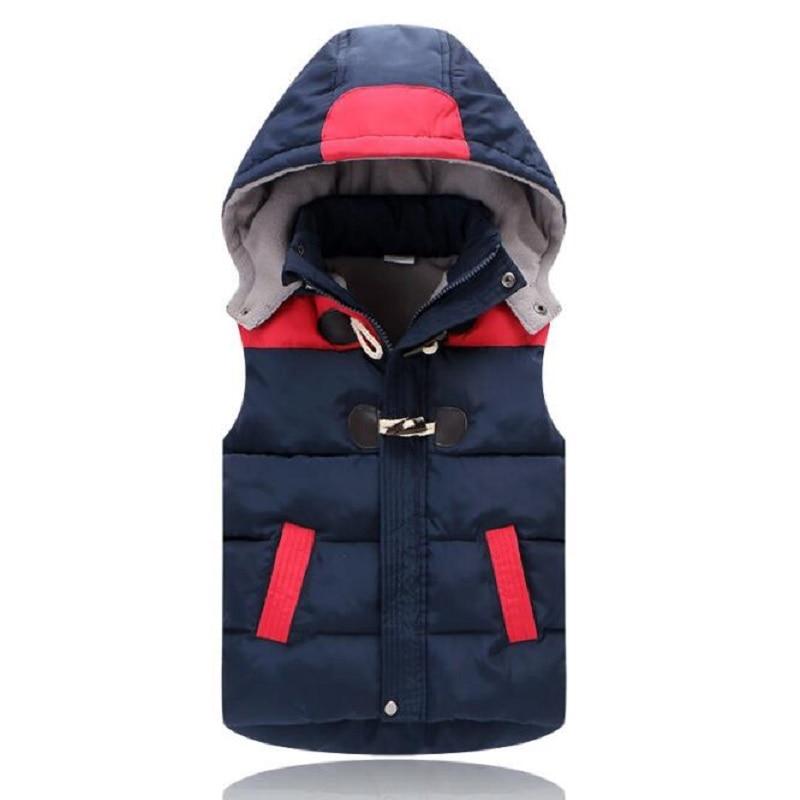 Vests Children Hoodies Warm Jacket Baby Girls Outerwear Coats Kids Vest Boys Hooded Jackets Autumn Winter Thicken Waistcoats