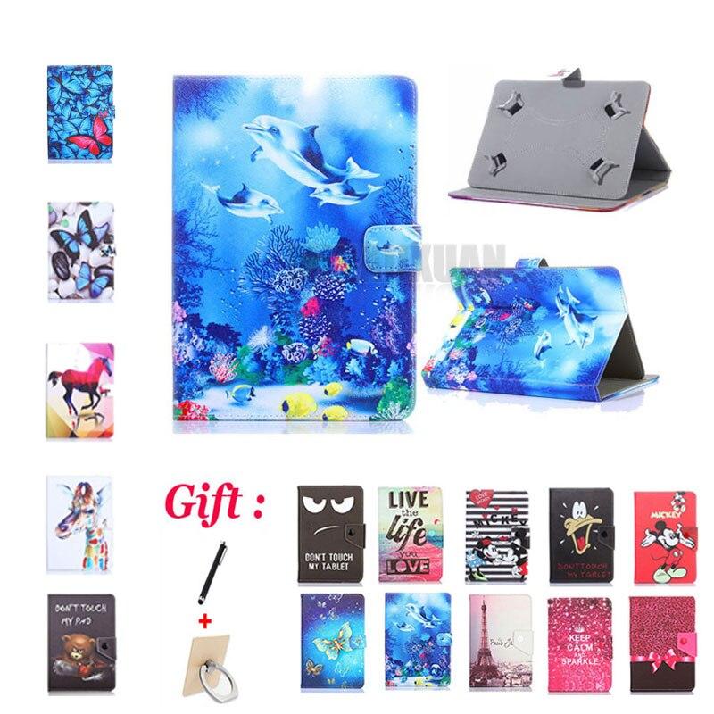 """Universal 8 pulgadas carcasa impresa cubierta para Samsung Galaxy Tab Active T360 T365 activo/2 Active2 SM-T390 T390 T395 8 """"Tablet + regalo"""
