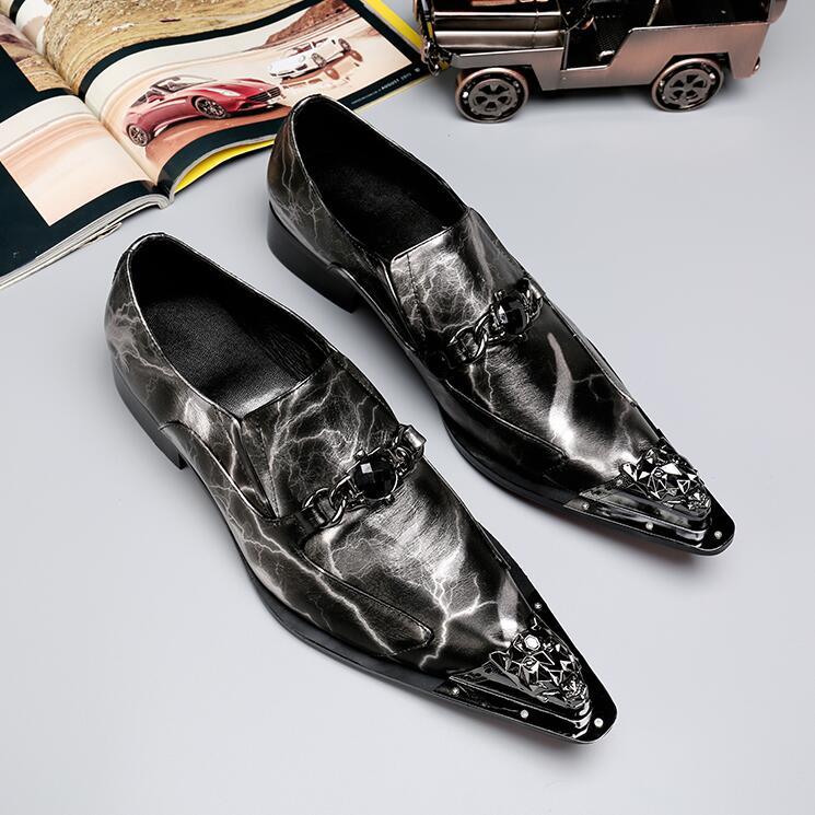 أحذية رسمية كلاسيكية للرجال ، أحذية مكتبية مريحة ، جودة عالية ، جلد أصلي مع مسامير