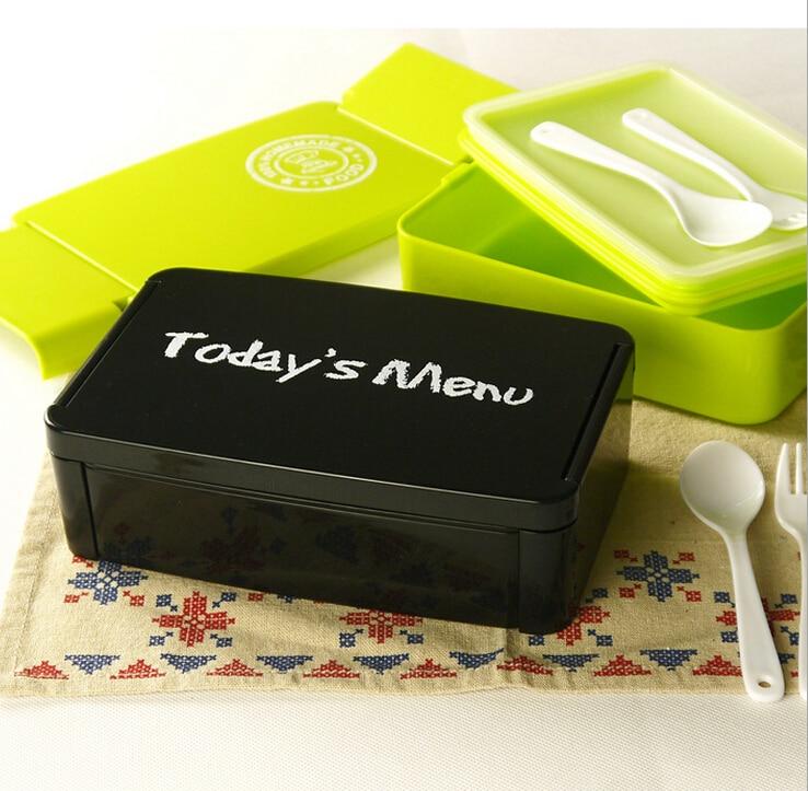Fiambrera de venta de fabricantes, fiambrera única creativa, apto para microondas 100% alimentos, caja Bento (00180)
