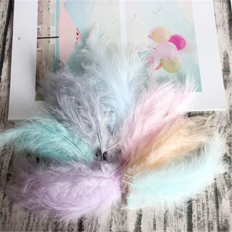 Plumas de pavo 50 Uds 4-6 pulgadas 10-15cm plumas de pollo marabú plumas de pavo para carnaval Halloween decoración para manualidades de Navidad