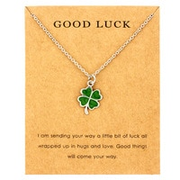 Moon Stars Pinecone Bird Angel Wing Butterfly Elephant Key Compass Unicorn Heart Four Leaf Lucky Clover Necklaces for Women